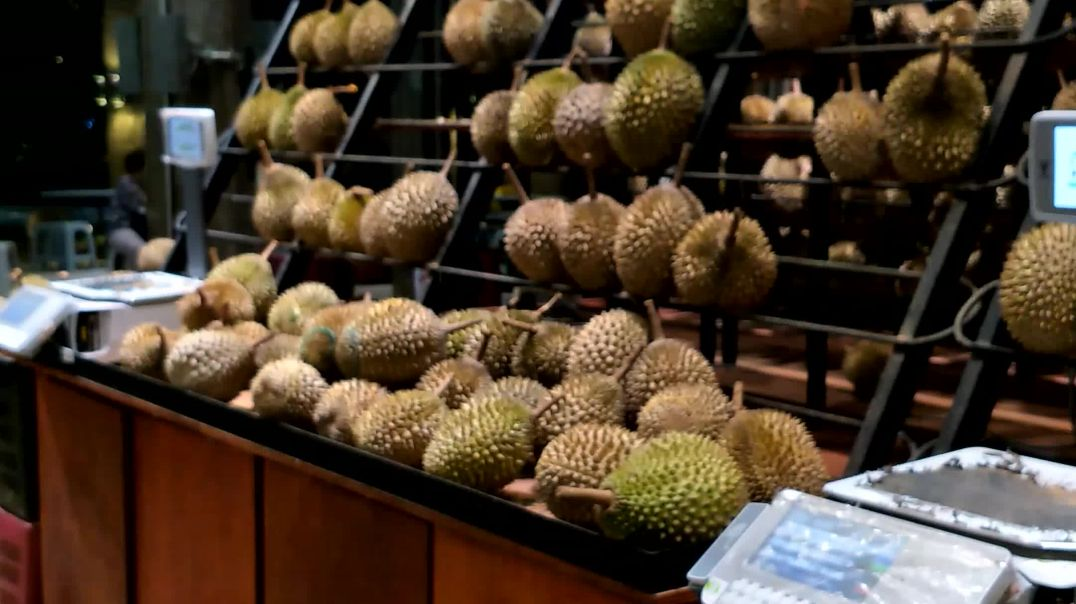 Durian man for durian lovers in PJ, Malaysia